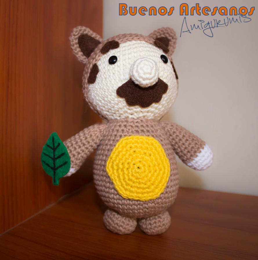 Amigurumi Mario Bros. Tanooki by BuenosArtesanos on DeviantArt