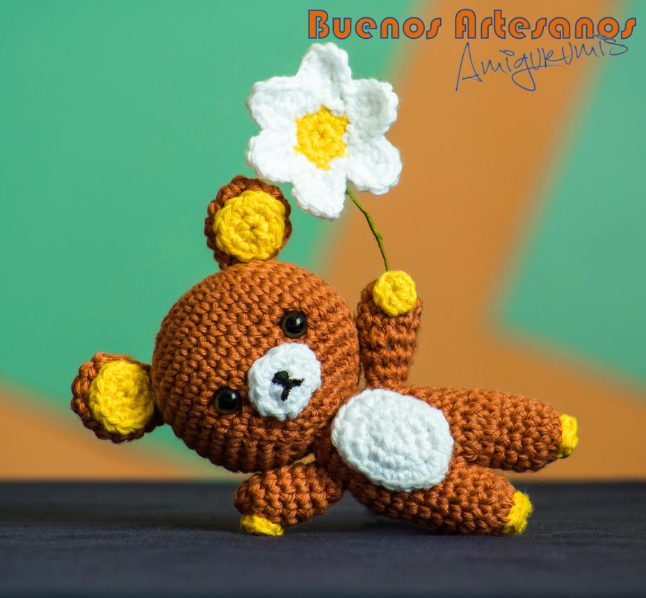 Amigurumi Flower : Amigurumi rilakkuma flower by buenosartesanos on deviantart
