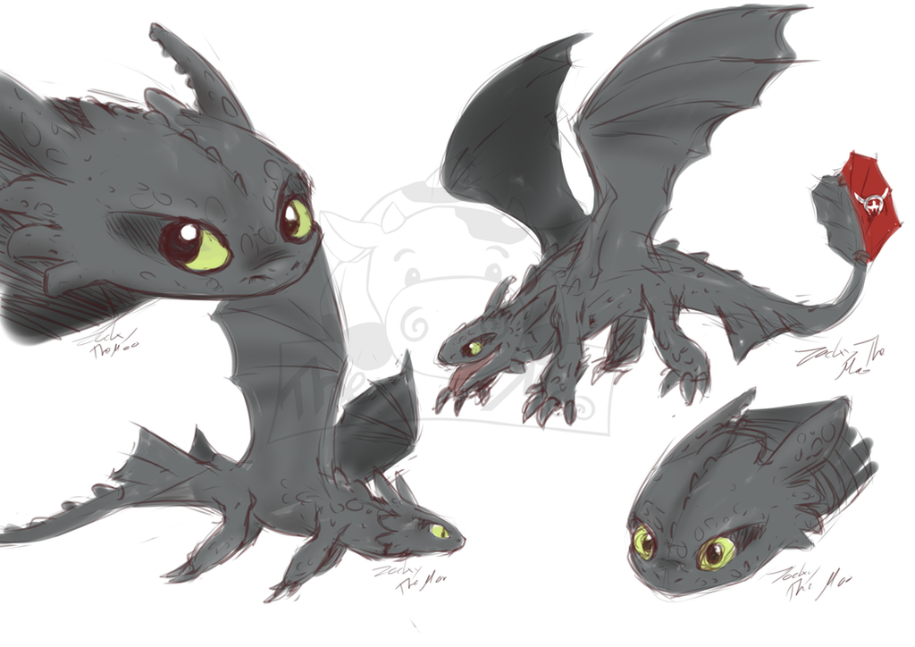 HTTYD sketches by Haruki-chan2