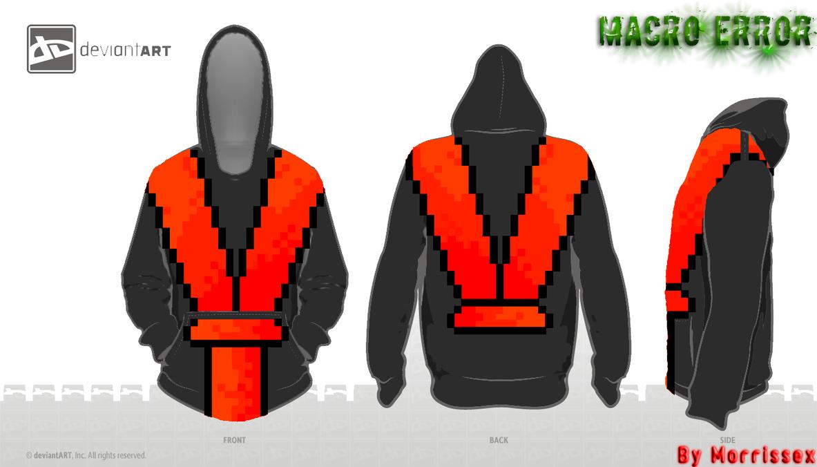 Macro Error Ninja hoodie by Morrissex