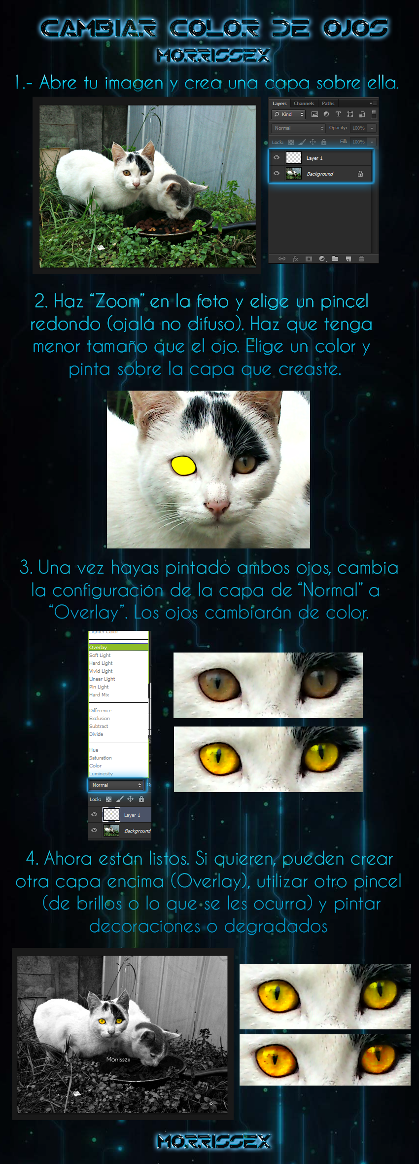 Cambiar color de ojos [Eye-colour PS Tutorial] by Morrissex