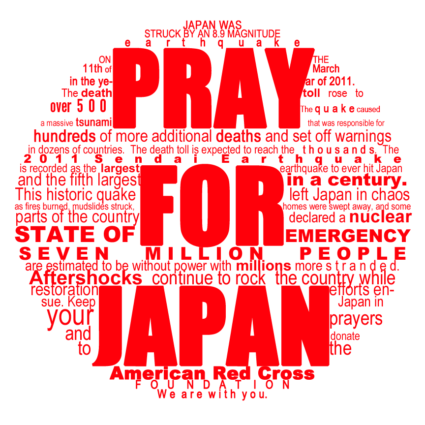 pray for japan. by k0ishii