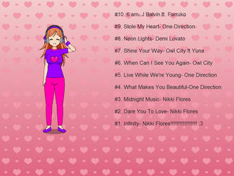 My top 10 favorite songs by PaulinaTheCuteGal28
