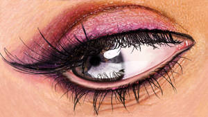 Auge3 Painting Eye Glose Up with Makeup