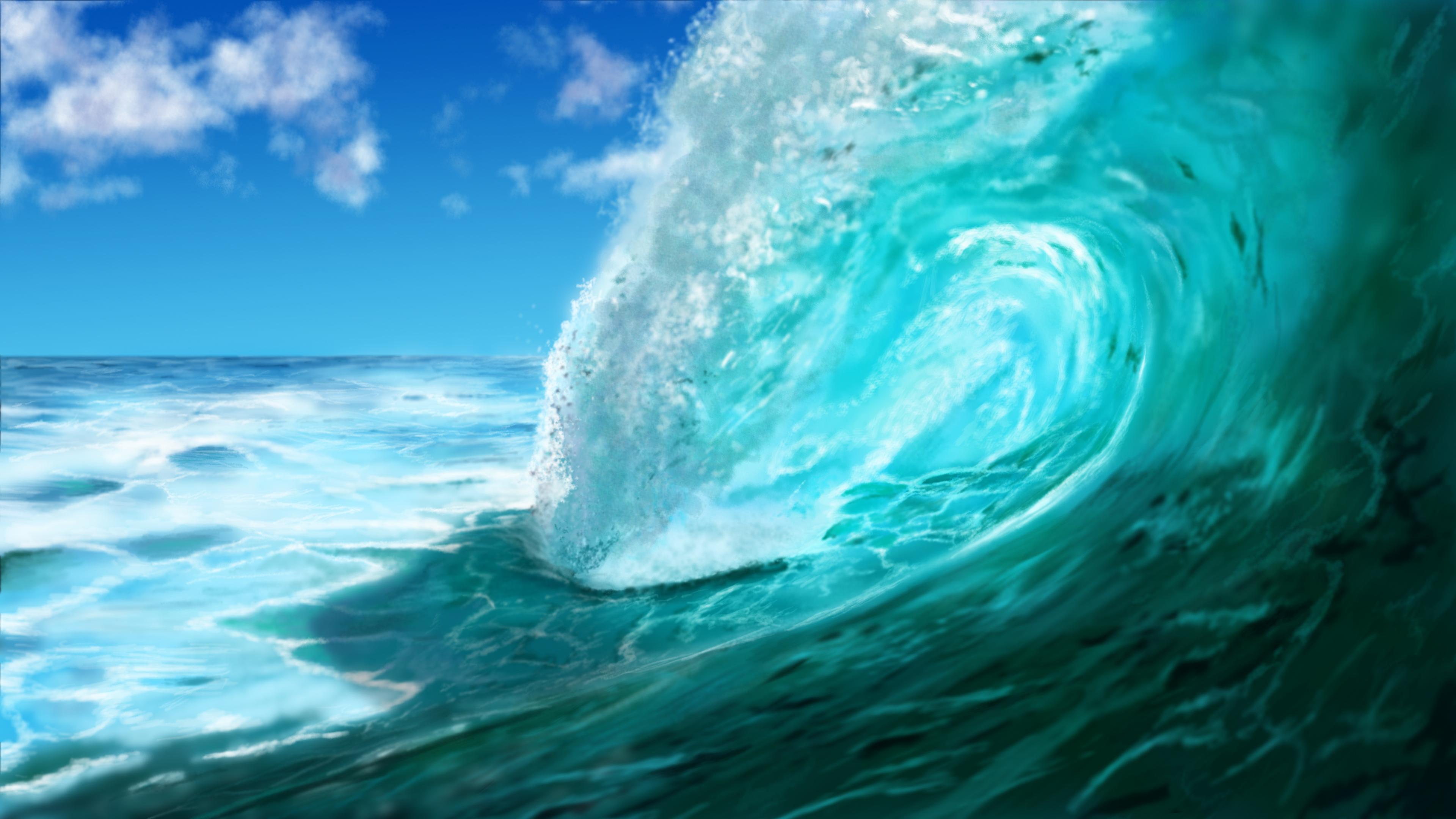 Digital Painting - Ocean Wave  (Meereswoge, Welle)