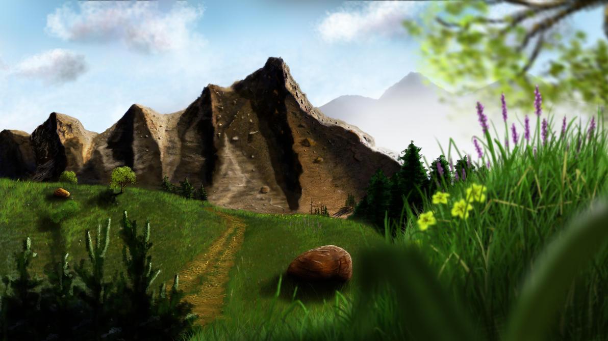 painted mountain wallpaper ispazio - photo #6