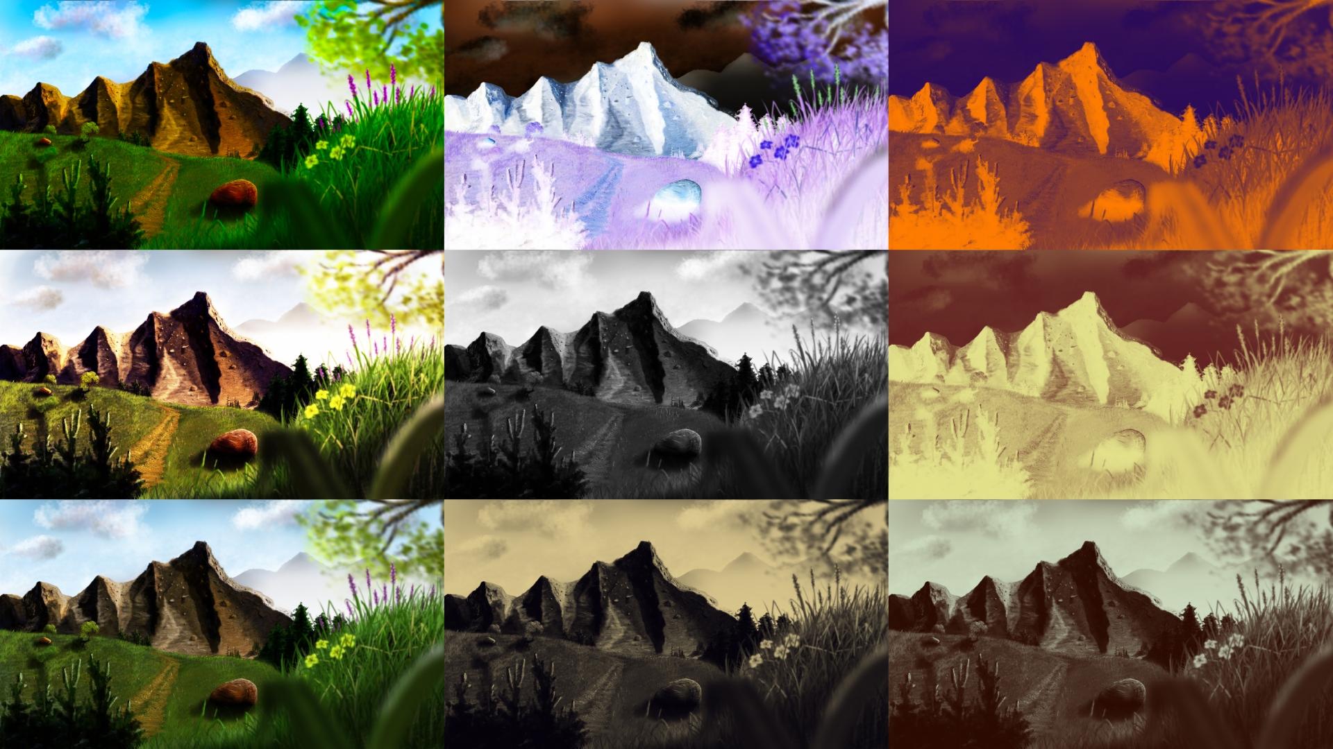 painted mountain wallpaper ispazio - photo #14