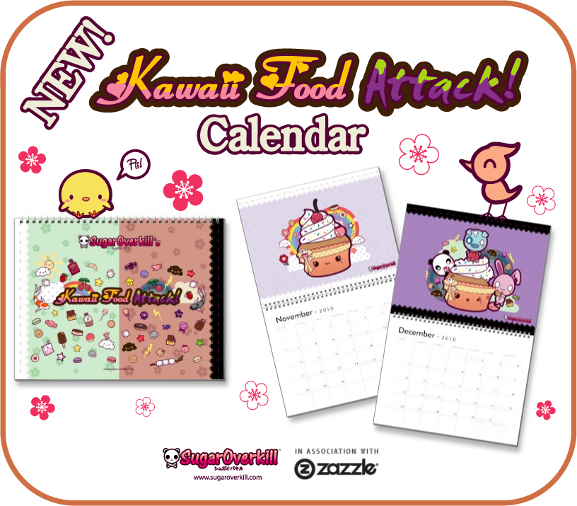 Kawaii Food Attack Calendar by mAi2x-chan