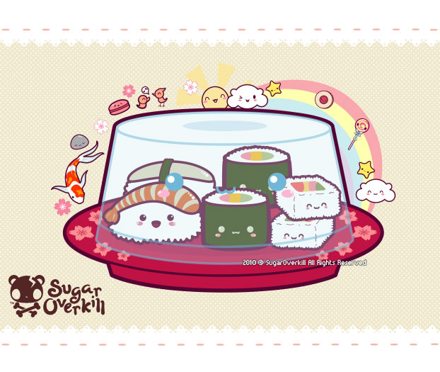 Kawaii Sushi by mAi2x-chan