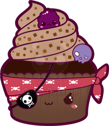 Kawaii Pirate Cupcake by mAi2x-chan