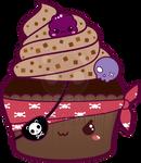 Kawaii Pirate Cupcake
