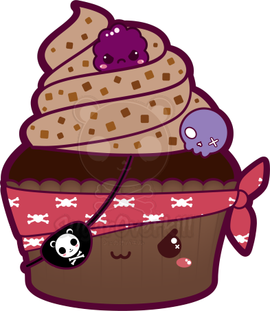 Kawaii Pirate Cupcake by mAi2x-chan on DeviantArt