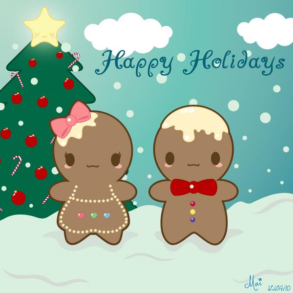 Kawaii Gingerbread by mAi2x-chan