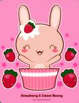 Strawberry and Cream Bunny