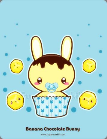 Banana Chocolate Truffle Bunny by mAi2x-chan