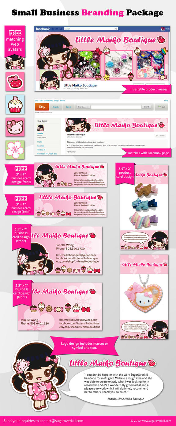 Small Business Branding Packages by mAi2x-chan