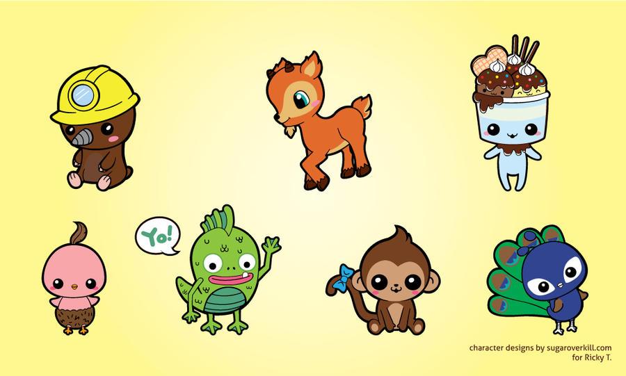 Kawaii Chibi Animals and Creatures by mAi2x-chan