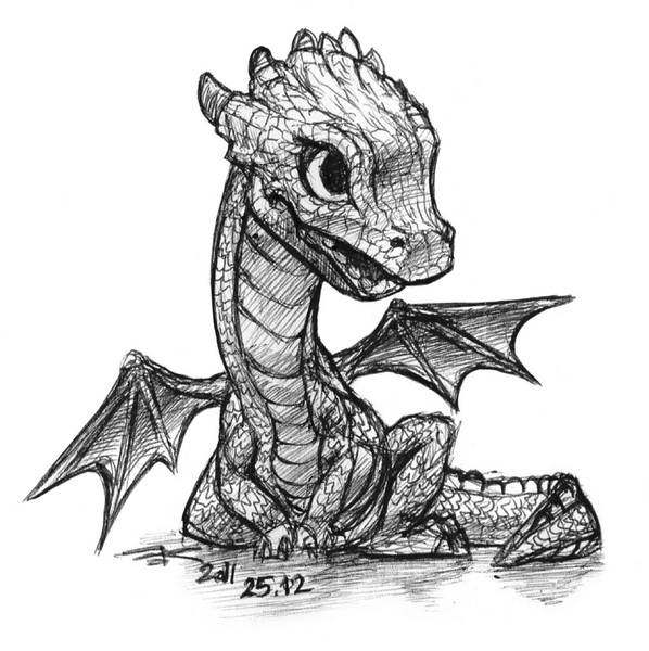 Small dragon by black griffel on deviantart for Small dragon tattoos