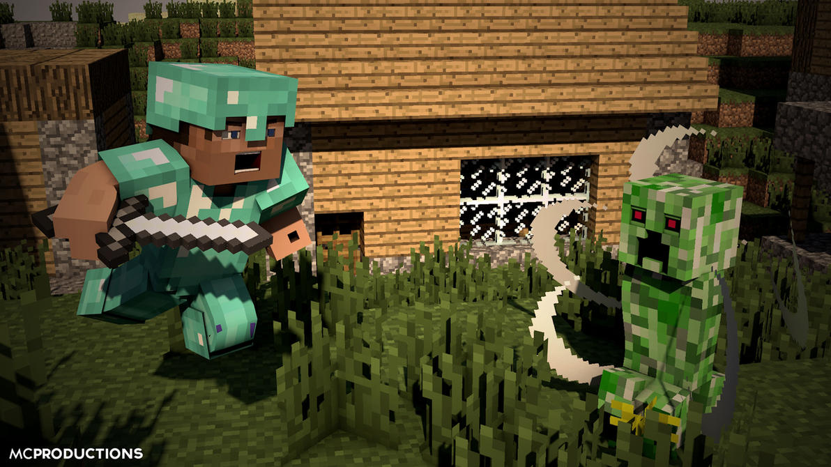 Minecraft Animated 'Slaying Creepers' by MCPROD on DeviantArt