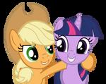 AJ and Twilight Vector