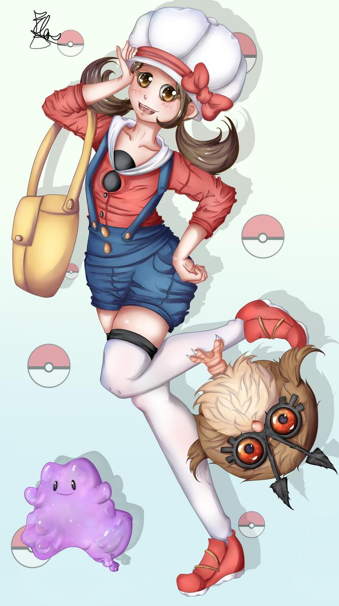 Pokemon Kotone Coloreado A