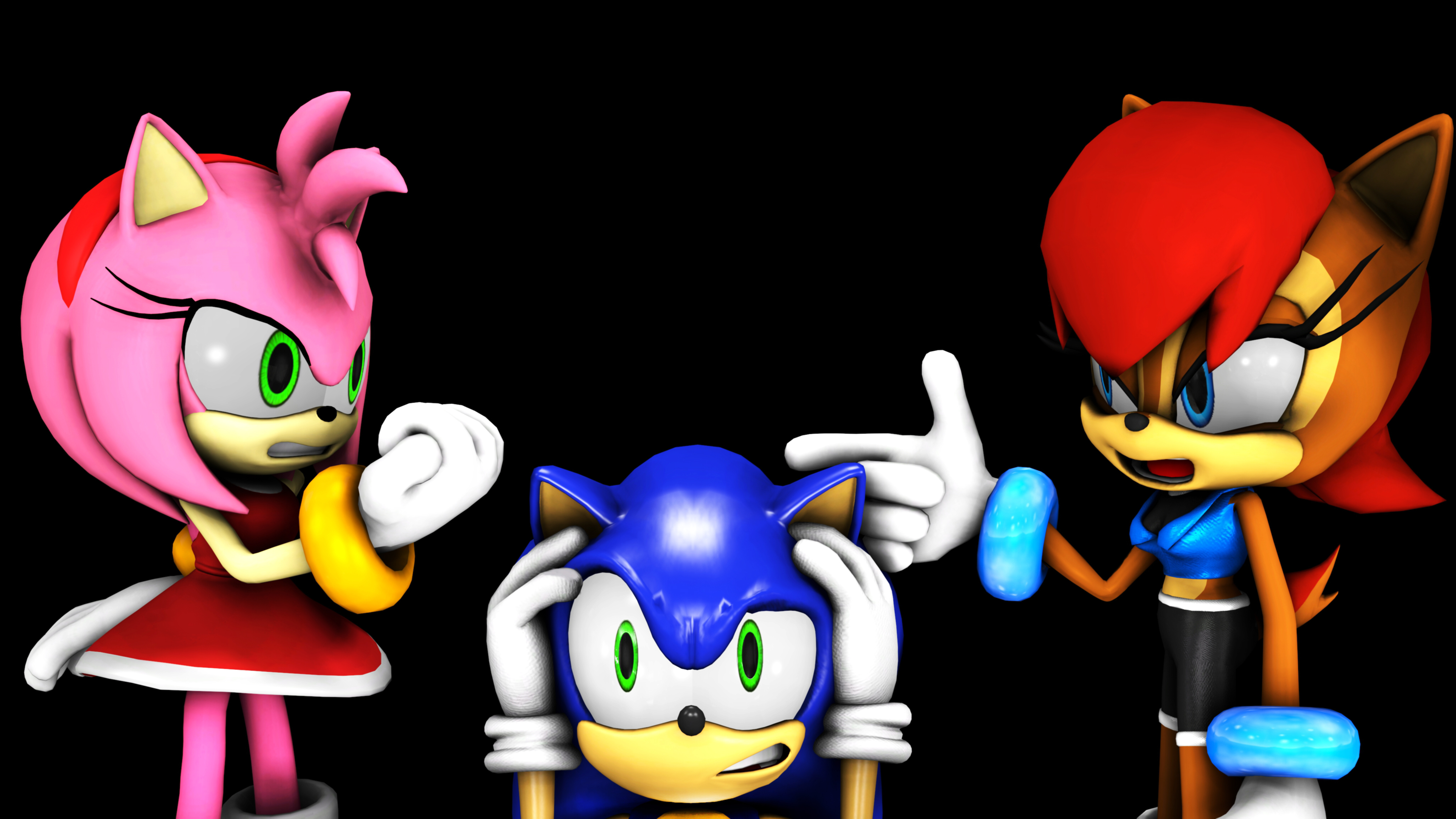The Amy and Sallys fusion by RachelGilber on DeviantArt