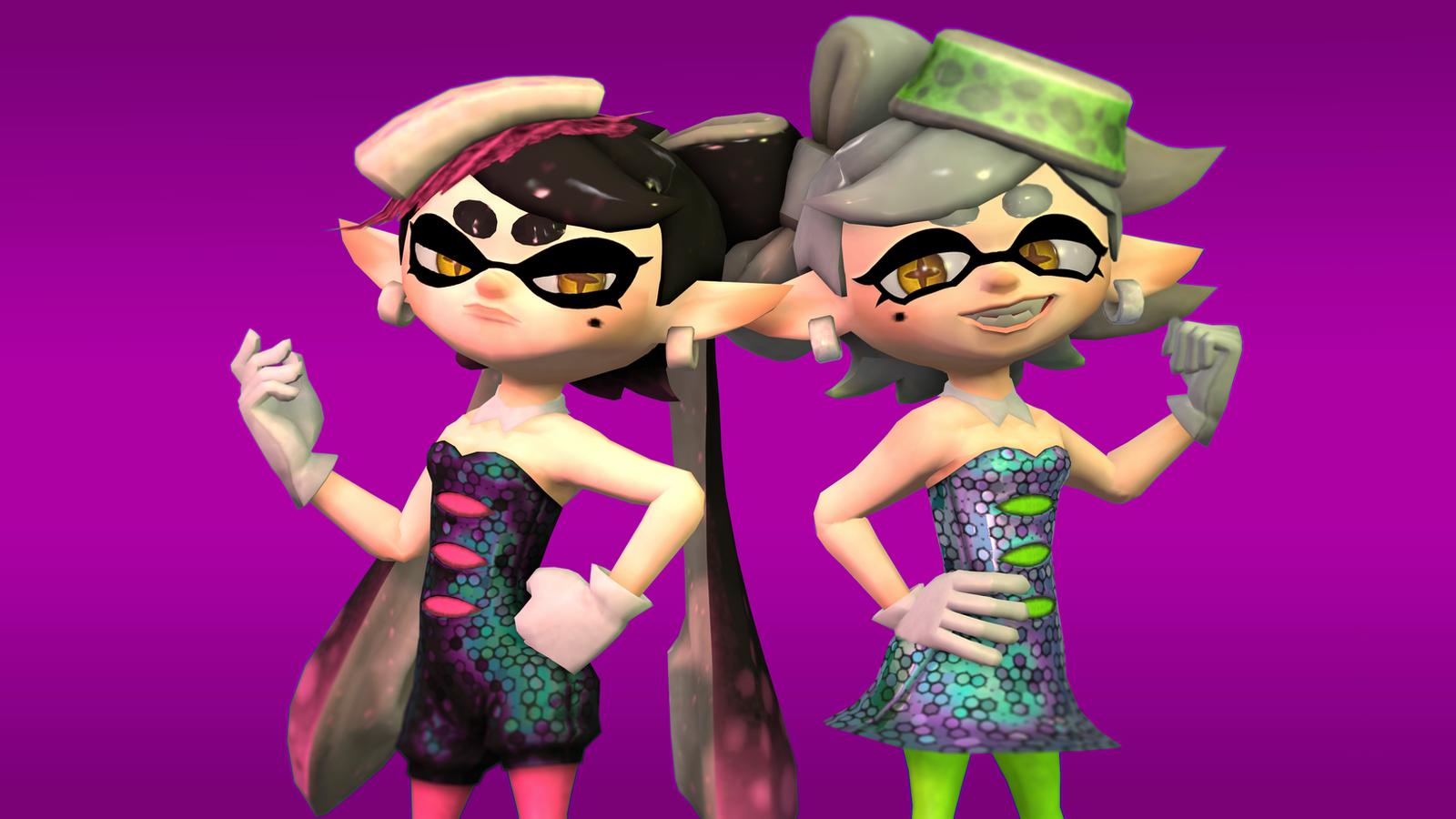 Callie And Marie Wallpaper: Squid Sisters (SFM) By Slava13 On DeviantArt