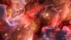 Nebula in pink mist