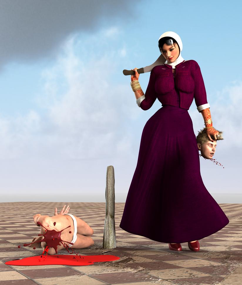 Blond man beheaded 3 by Ahmedhse on DeviantArt