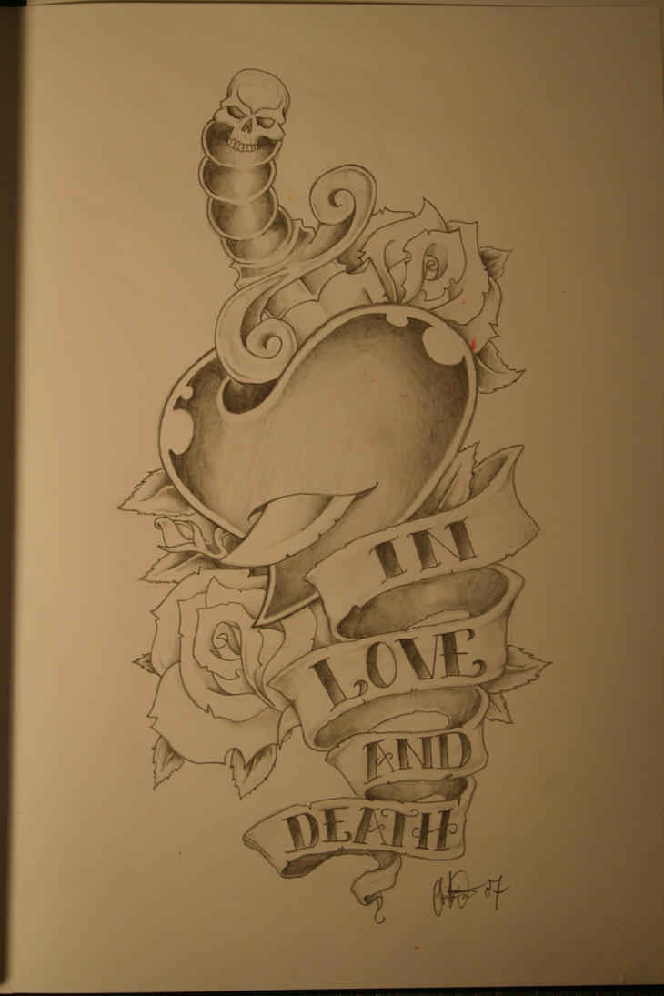 in love and death tattoo by sammydavis on deviantart
