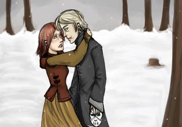 Ginny and Malfoy by Scila