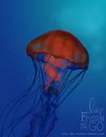 Jellyfish + Speedpaint by IntoTheFrisson