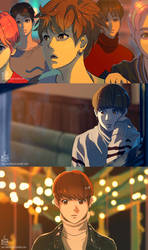 BTS Spring Day Anime MV (Jungkook scenes) by IntoTheFrisson