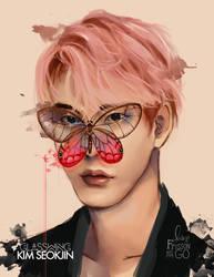 Kim Seokjin: Glasswing by IntoTheFrisson