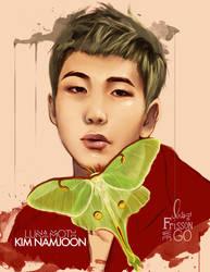 Kim Namjoon: Lunamoth by IntoTheFrisson