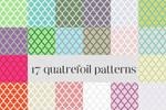 17 quatrefoil patterns