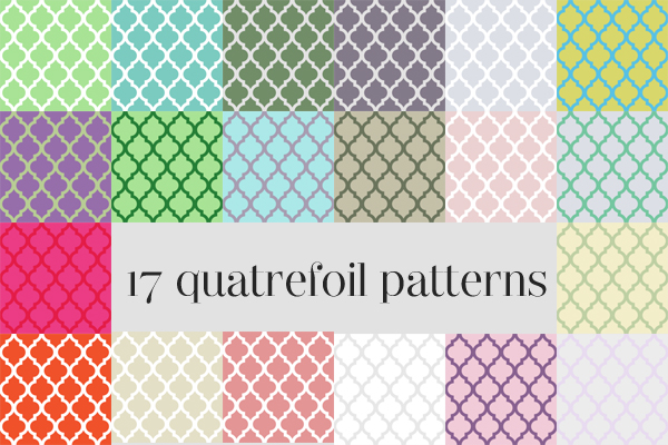 17 quatrefoil patterns by thatdesigngrl
