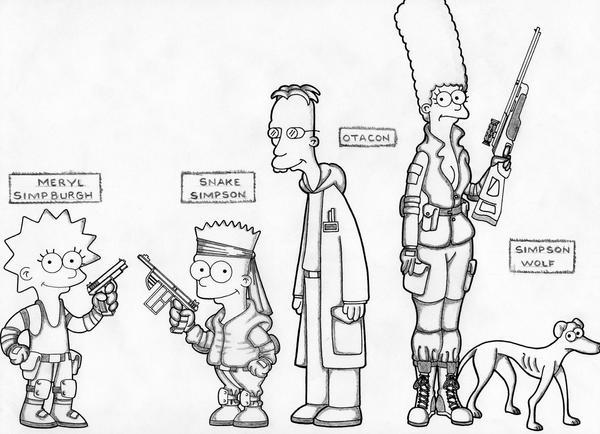 Metal Gear Simpsons by Nes44Nes