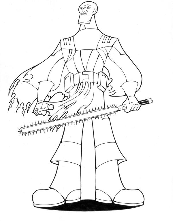 Mace windu standing proud by nes44nes on deviantart Darth Sidious Coloring Pages Yoda Coloring Pages Jabba the Hutt Coloring Pages
