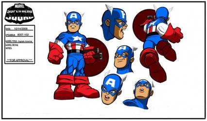 Captain America Model sheet