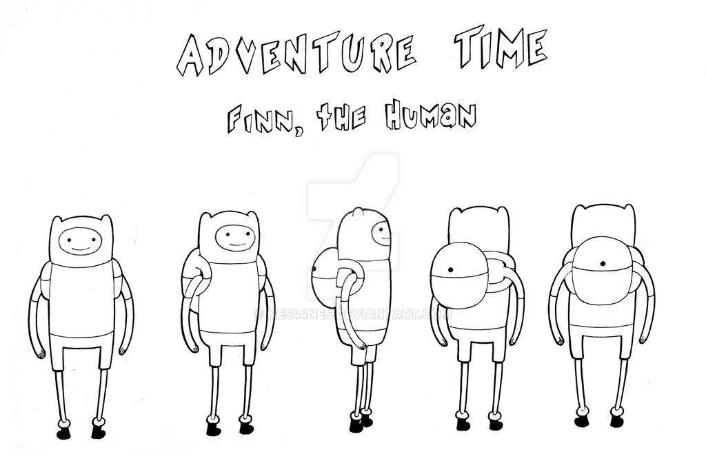 Adventure Time Character Design Sheets : Finn the human model sheet turn around by nes on