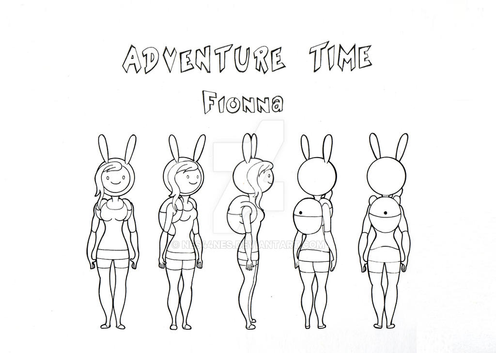 Adventure Time Character Design Sheets : Fionna model sheet turn around by nes on deviantart