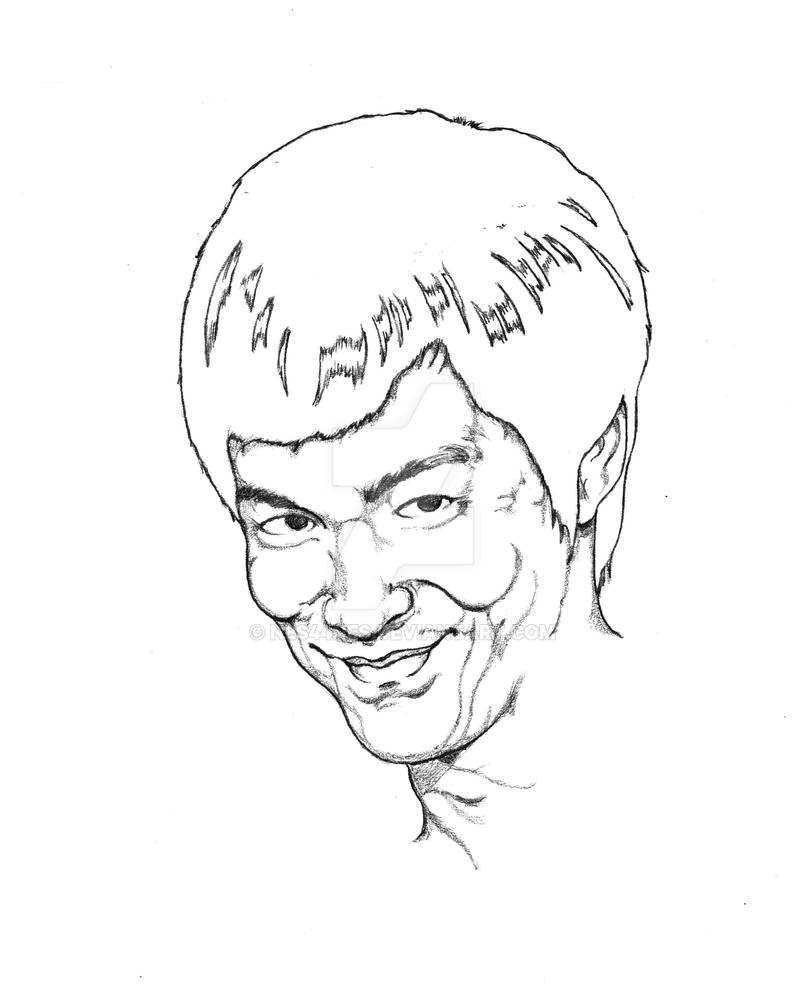 The Grin of Bruce Lee by Nes44Nes