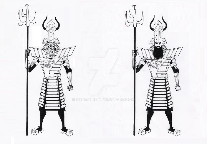 Samurai Jack In Armor by Nes44Nes