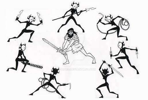 Samurai Jack Vs Daughters of Aku!