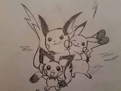 Pikachu Family by adnama101