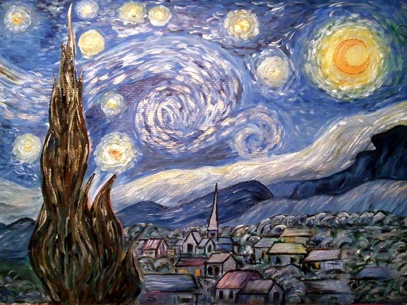 starry night by anemonty