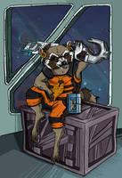 Rocket Raccoon by Sukeltajapanda