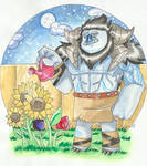 Trollhunters OC-Gardening at night