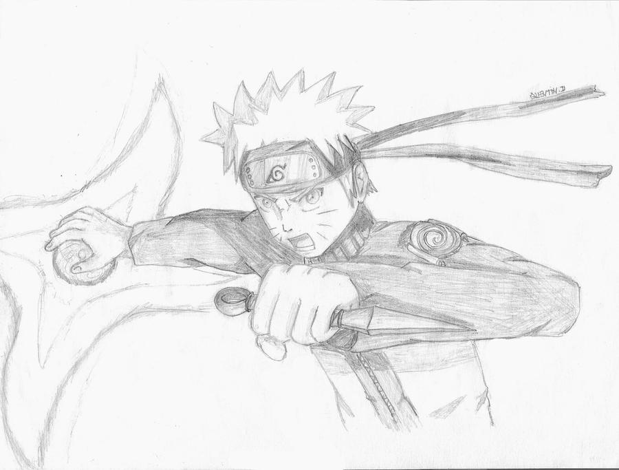 Naruto rasengan shuriken drawing